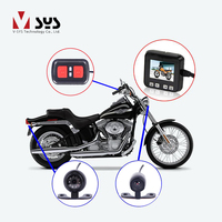 VSYS C6 Dual Waterproof Front & Rear View Motorcycle Dash Cam Bike Camera Recorder Motorcycle DVR, G sensor GPS Night Vision