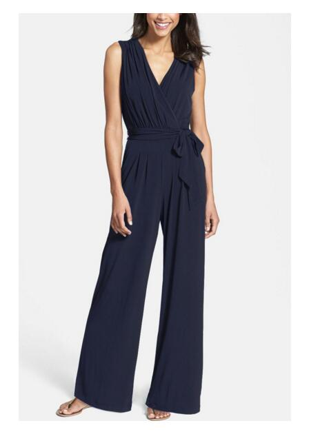 10 stks / partij! Nieuwe mode Office dames jumpsuit 2019 - Dameskleding