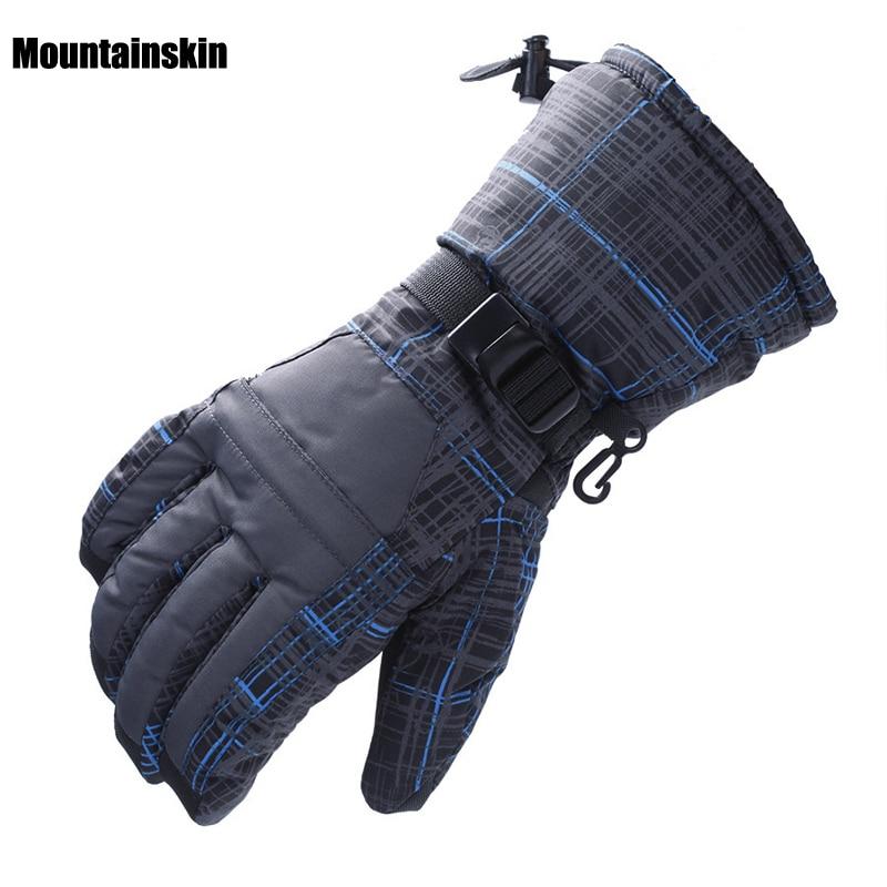 Prix pour Mountainskin de Femmes Hommes de Gants de Ski D'hiver En Plein Air Étanche Thermique Randonnée Snowboard Cyclisme Escalade Mâle Gant VK004