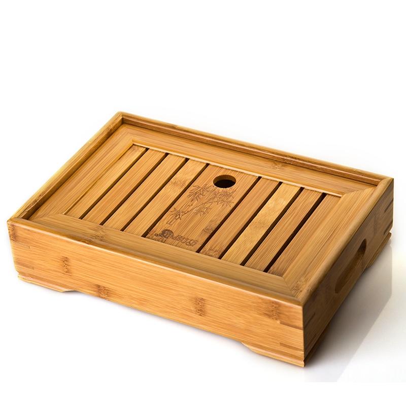 Hot sale Kung Fu Tea Set Natural Wood Bamboo Tea Tray sets size 34cm 22cm 6cm