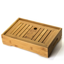 Hot sale Kung Fu Tea Set Natural Wood Bamboo Tea Tray sets size 34cm 22cm 6cm medium model 38cm 26cm  6cm big model