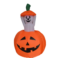 YUYU 1.2M Cute Airblown Inflatable Pumpkin Indoor Outdoor Yard Halloween Props Party Decoration Supermarket window decor