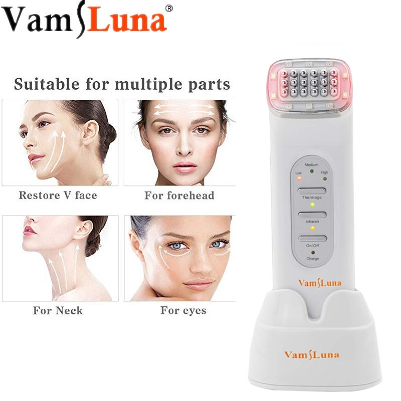 Radio Frequency Far Infrared Dot Matrix Thermage Facial Machine For Anti-aging Wrinkle Removal Nutrition Leading-in Skin Lifting