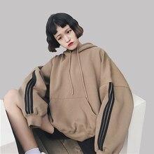 Women Hoodies Sweatshirts 2018 Winter Pullover Thick Loose F