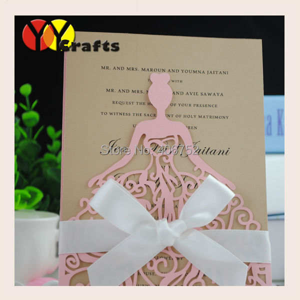 Online Shop Custom Cheap Various Designs Birthday Greeting Cards Pink Baby Handmade Invitation