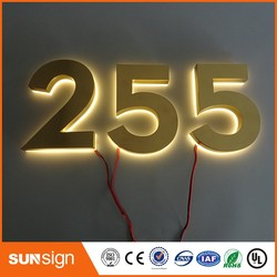 H 15cm Waterproof Backlit advertising letters metal letter light