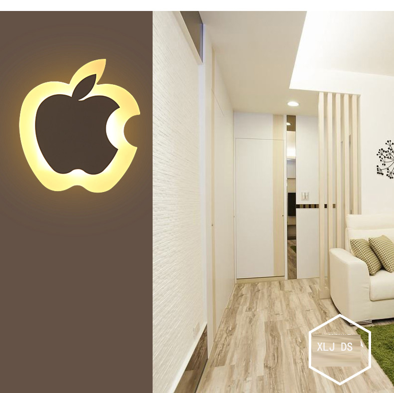 Dia.25cm apple shape LED wall lamp bedside lamp modern living room corridor hallway stairs light Pathway Sconce Lighting