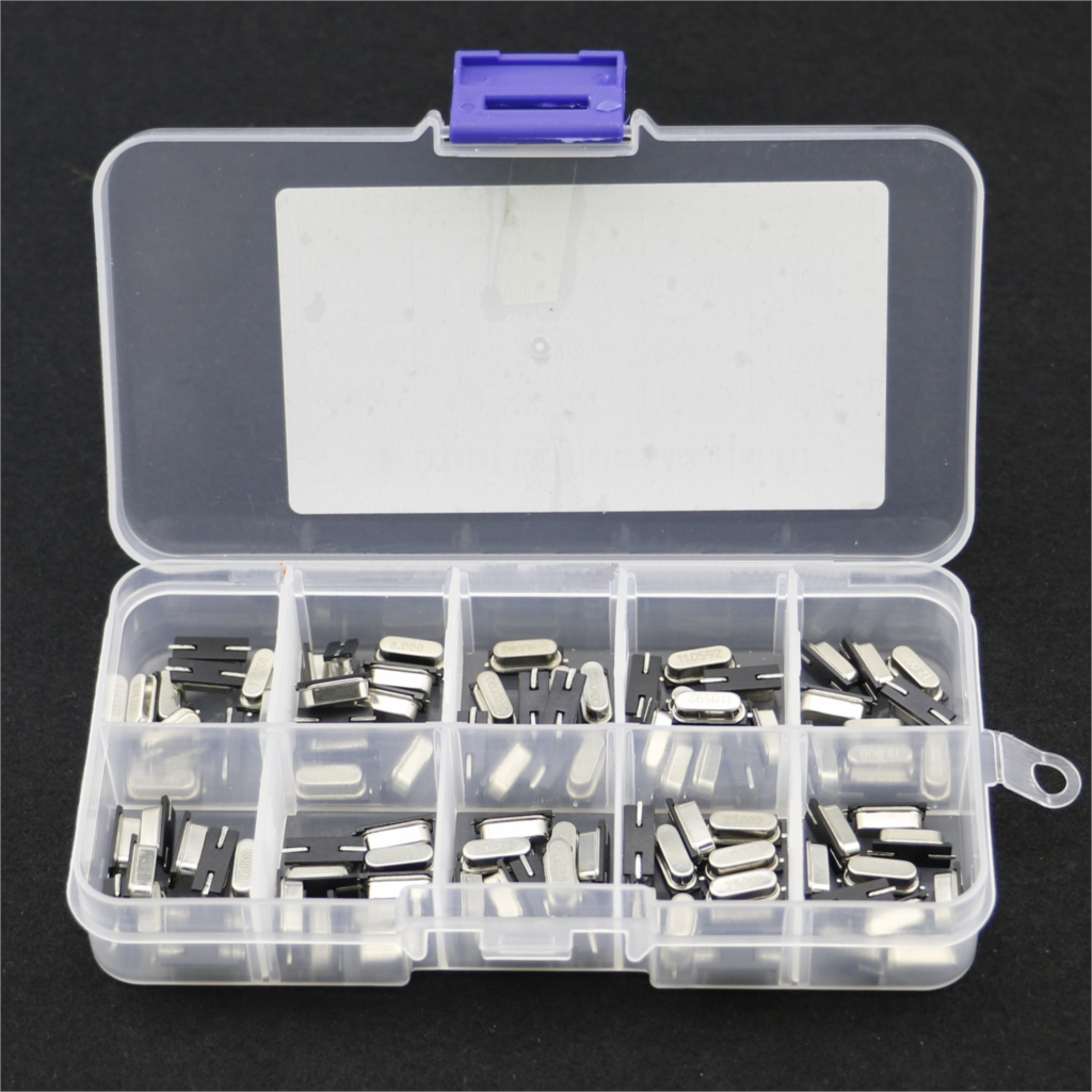 10Values HC-49S Quartz Resonator SMD Crystal Oscillator Kit 4MHz 6MHz 8MHz 12MHz 16MHz 24MHz 25MHz 48MHz 2Pin Diy Electronic Set