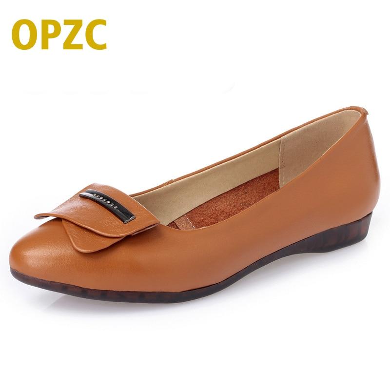 Mode 42 brown En Femmes beige Le Taille Pente 35 Avec Chaussures Cuir Bouche Véritable 2019 Confort Profonde Black Boucle De Pois Peu Printemps Côté Grande S4gwR4q57