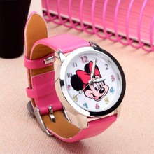 Drop shipping Cartoon Beautiful girl Minnie mouse style Color number dial children students