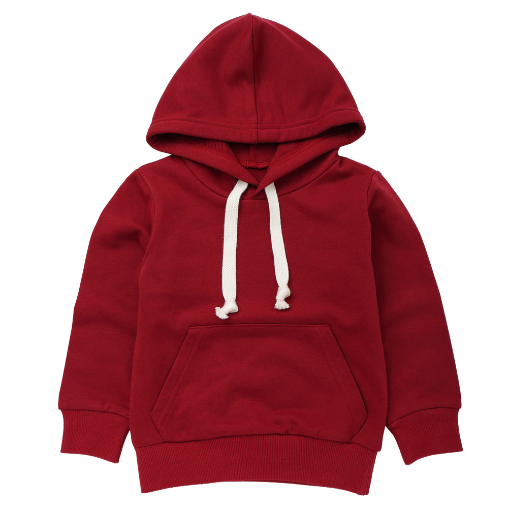 27kids 2-9 Years fashion baby hooded solid color sweater Toddler Baby Kids Boys Girls Sweatshirt Tops Clothes Casual sweaters(China)