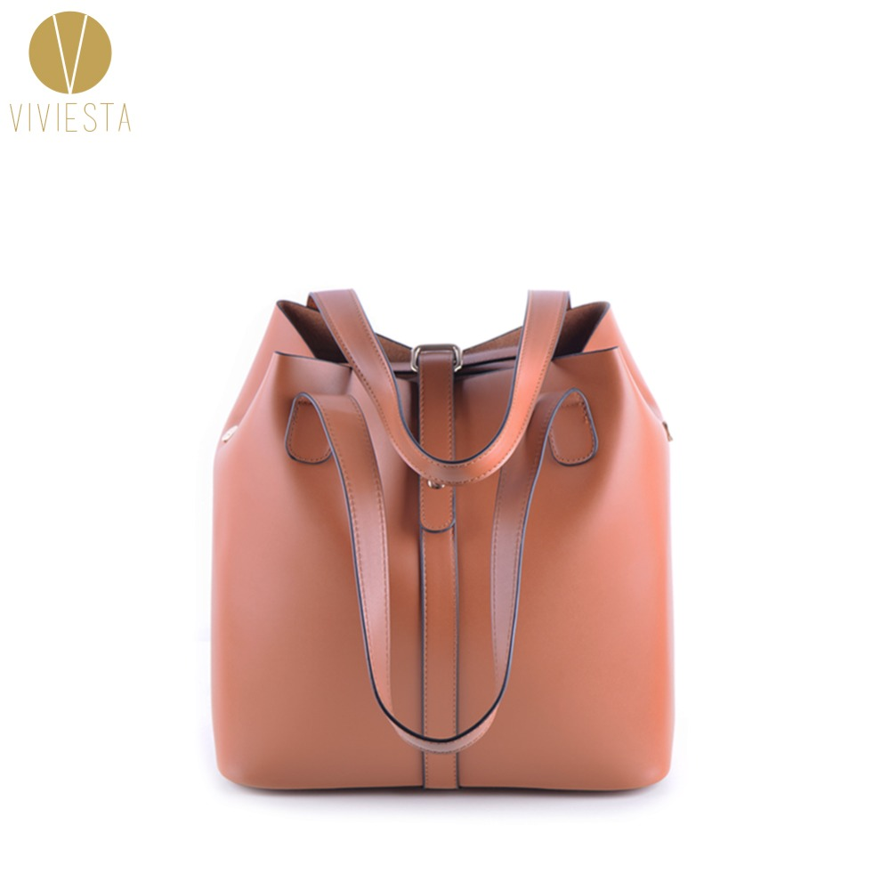 VINTAGE EXTRA LARGE BUCKET TOTE - Women 3-Way Casual Top Quality Leather Big Volume A4 Size Shoulder Shopping Bag Handbag Bolsa