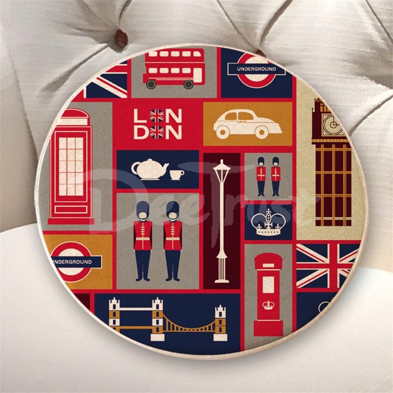 Europski pamuk posteljina jastuk London okrugli sjedala jastuk debeli - Tekstil za kućanstvo - Foto 6
