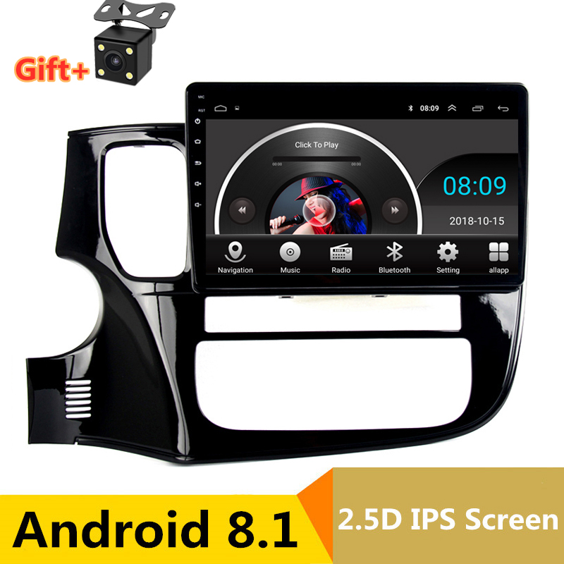 "10.1"" Android 8.1 Car DVD GPS For Mitsubishi Outlander 2014 2015 2016 audio car radio stereo navigator bluetooth wifi built in"
