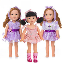Born New Baby Fit 18 inch 40cm-43cm Doll Clothes 2 pieces American Purple, pink, blue Hairbands accessories For Gift