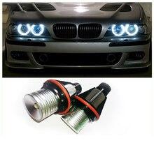 1 комплект 10 Вт Cree чип LED Angel Eyes гало-маркер кольцесветильник ПА Canbus для BMW E39 E53 E60 E61 E63 E64 E65 E66 E83 E87 X3 X5