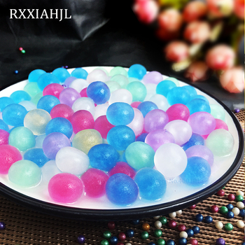 5000 Pcs kryształ kształt kulki magia żel galaretki piłka krystaliczne błoto kwiat gleby wzrost włosów puffy roślin ball ślubny wystrój domu tanie i dobre opinie Kryształ gleby RXXIAHJL Kristallerde Crystal Soil colorful