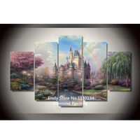 Rainbow Castle Diamond Painting Cross Stitch Full Diamond Embroidery Europe Home Decoration Square Drill DP03