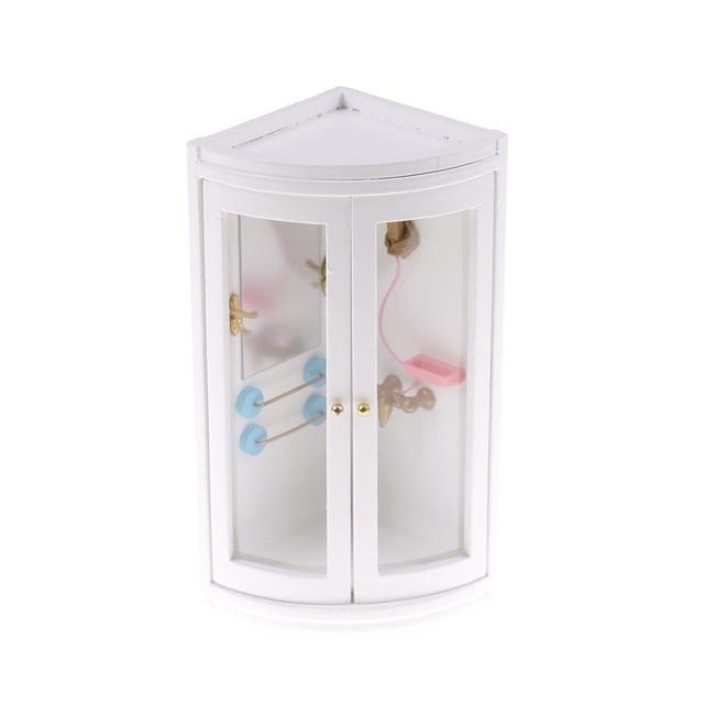Miniature Dollhouse Furniture Simulation Shower Room Modern Bathroom