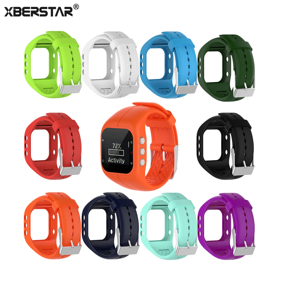 XBERSTAR Watchband Strap for Polar A300 Silicone Sports Bracelet Wrist Band Strap Fitness and Activity Tracker jansin 22mm watchband for garmin fenix 5 easy fit silicone replacement band sports silicone wristband for forerunner 935 gps