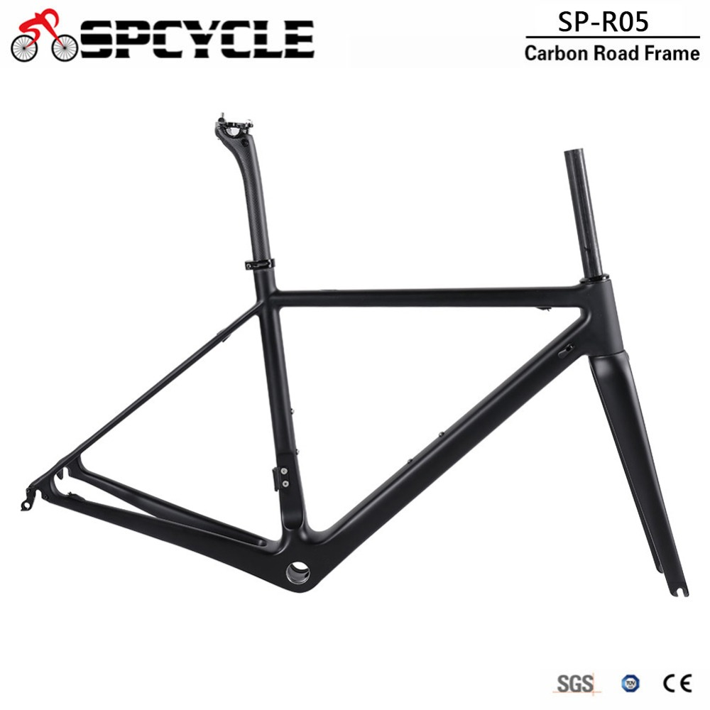Spcycle T1000 Full Carbon Road Bike Frame China Factory Cheap Racing Bicycle Carbon Frameset UltraLight BSA Road Bicycle Frames image