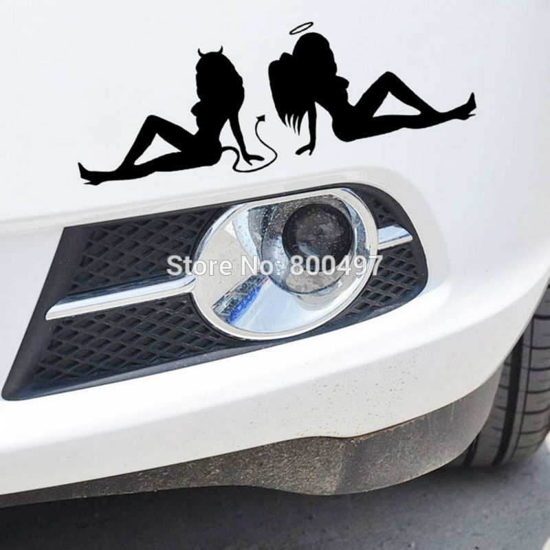 10 X Hot Lady Sexy Girl Angels And Demons Sticker Decoration Auto Decal For Tesla Toyota Chevrolet Ford Volkswagen Hyundai Lada High Quality And Inexpensive