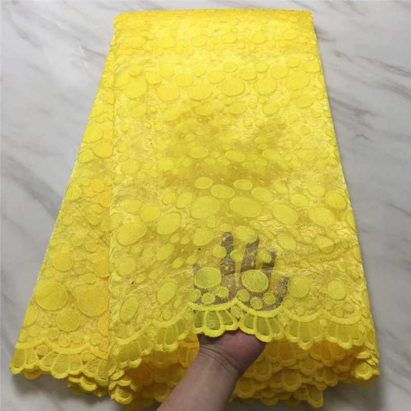 Kraliyet Mavi Afrika Tül Dantel 2019 Yüksek Kalite Fransız Net Dantel Kumaş için sarı Nijeryalı düğün elbisesi Mor beyaz