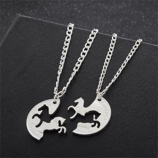 Horse Couple Necklace