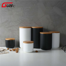 260ML 800ML 1000ML Sealed Ceramic Storage Jar For Spices Tank Container For Eating With Lid Bottle Coffee Tea Caddy Kitchen cheap GU26°C 0 5-1L Eco-Friendly Stocked Cover Storage Bottles Jars