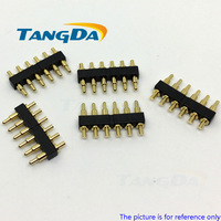 Tangda dip 포고 핀 커넥터 금도금 6 p 6pin 피치: 2.5mm 전류: 1.2a 4mm 5mm 6mm 7mm 8mm 10mm aw|patch|patches patchespatches p -