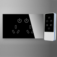 AU US Remote Control Wall Socket Touch ON OFF Button Universal Wall Socket 15A RF Wireless