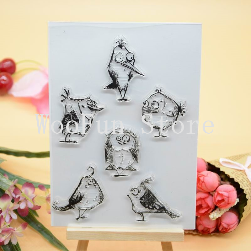 CS1137 Scrapbook DIY Photo Album Cards Transparent Acrylic Silicone Rubber Clear Stamps Sheet  11x16cm Bird lovely animals and ballon design transparent clear silicone stamp for diy scrapbooking photo album clear stamp cl 278