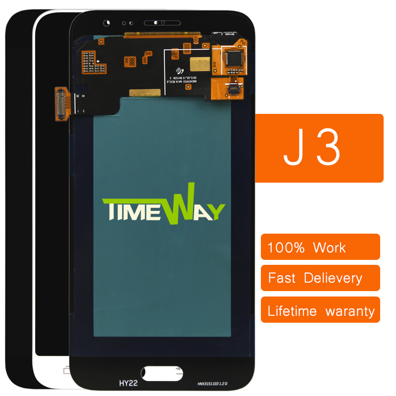ФОТО 2016 DHL 10pcs 100% tested Original for Samsung Galaxy J3 J320F J320M J320 2016 version LCD Display+Touch Screen Digitizer