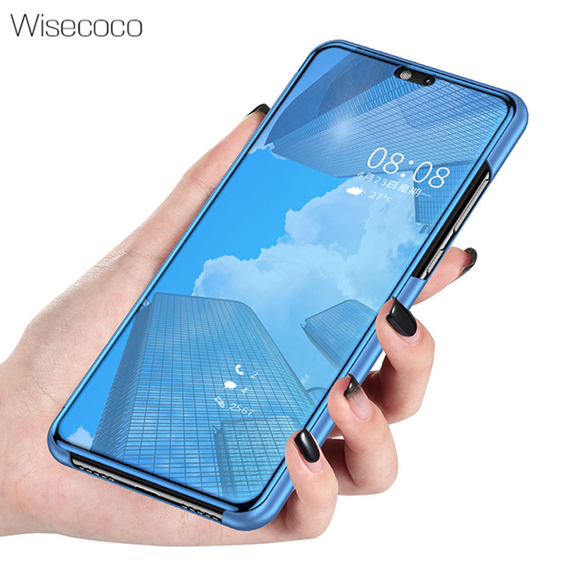 Luxury Flip Stand Touch Case For Xiaomi Mi Redmi Note 5 pro Etui 360 Full Cover Clear View Phone Cases For xiomi redmi note 5 64