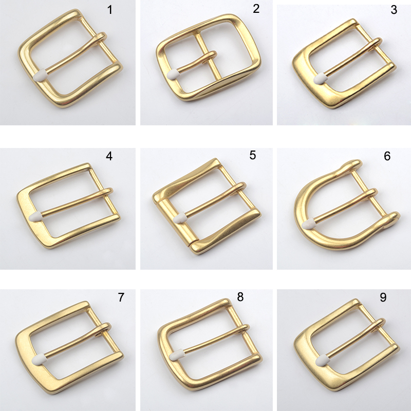 Top Quanlity Vintage Sample Solid Brass Belt Buckle Jeans Accessories Fit 4cm Belt