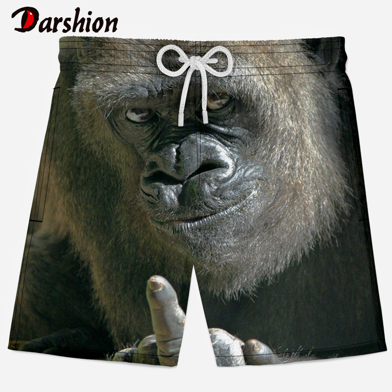 Casual 3D Monkey Print Men   Shorts   Breathable Quick Dry 3d Animal Printed   Shorts   Men 2019 New Summer Men Beach   Shorts   XS-4XL