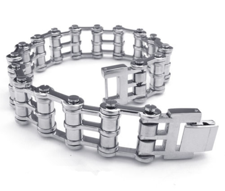 7.87(20cm)*16mm New Arrive Popular Male Gift Silver Stainless Steel Bike Chain Mens Bracelet Jewelry,Wholesale Factory Price