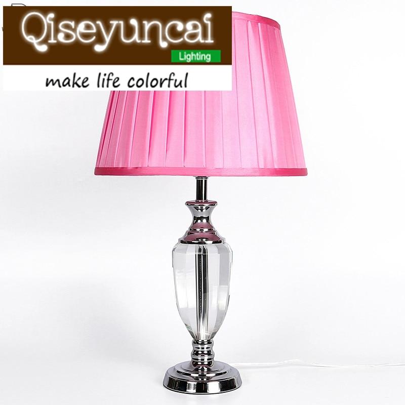 Qiseyuncai European romantic warm light LED desk lamp dimmer modern minimalist creative eye bedroom bedside lamp