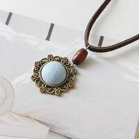 Southings tile porcelain vintage circle necklace baroque necklace ceramic jewelry