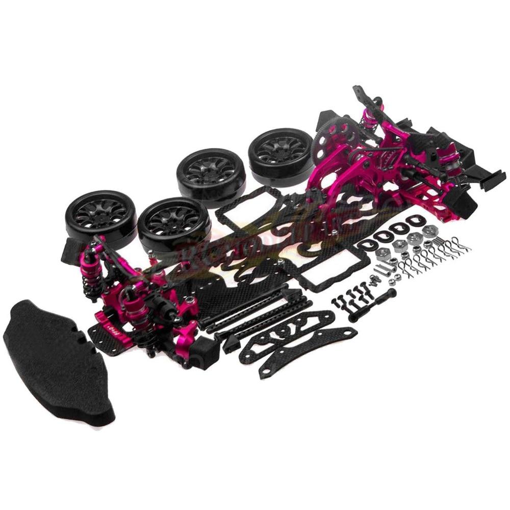 1/10 alliage et carbone SAKURA D4 RWD dérive voiture de course cadre Kit de carrosserie # KIT-D4RWD