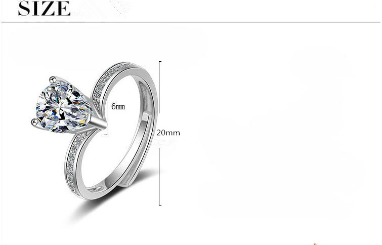 Promotion 925 sterling silver fashion shiny cz zircon female wedding ring jewelry ladies finger open rings no fade wholesale in Wedding Bands from Jewelry Accessories