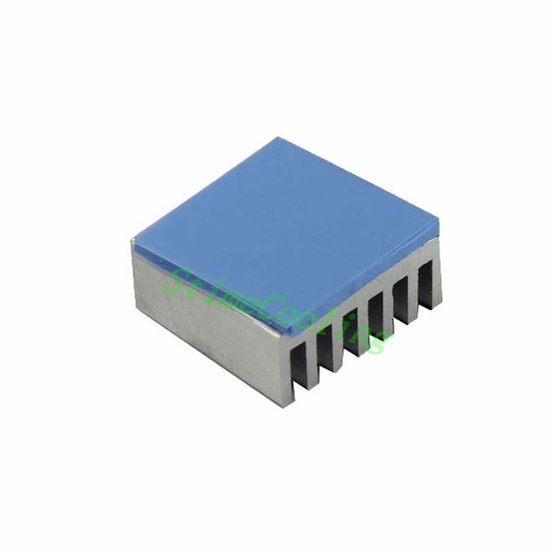 200PCS Lot 15X15x2mm Blue Conduction Heatsink Thermal Paste Compounds With SMD DIP IC Chip Pad Pads GDT15MMW-2