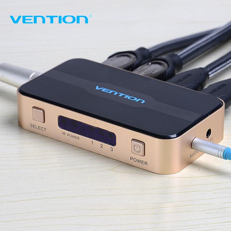 Prix pour D'origine VENTION 3 entrée 1 sortie HDMI Commutateur Switcher HDMI Splitter HDMI Câble avec Audio pour XBOX PS3 Smart HD 1080 P HDMI