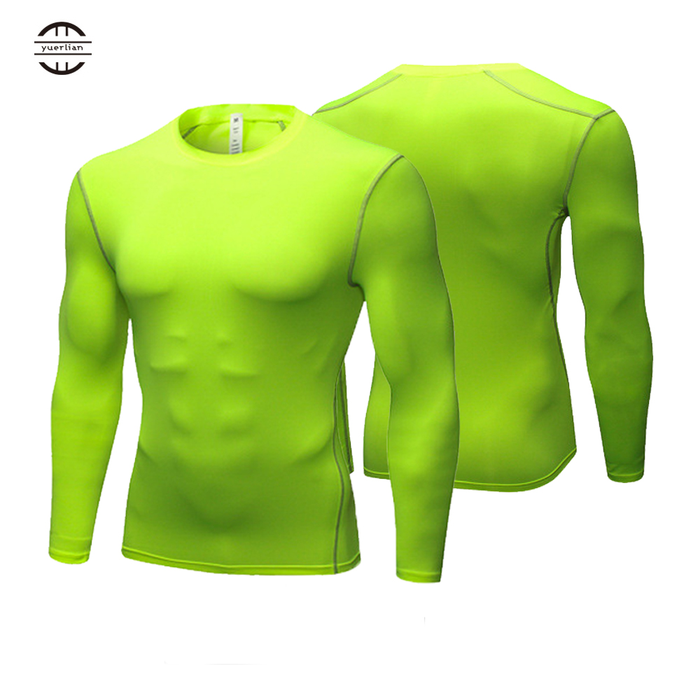 Yuerlian Long Sleeve Men shirt compression sports TShirt Fitness Man T Shirt dry fit running training GYM tops for male-in Running T-Shirts from Sports & Entertainment on AliExpress
