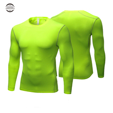 Yuerlian Long Sleeve Men shirt compression sports TShirt Fitness Man T-Shirt dry fit running training GYM tops for male