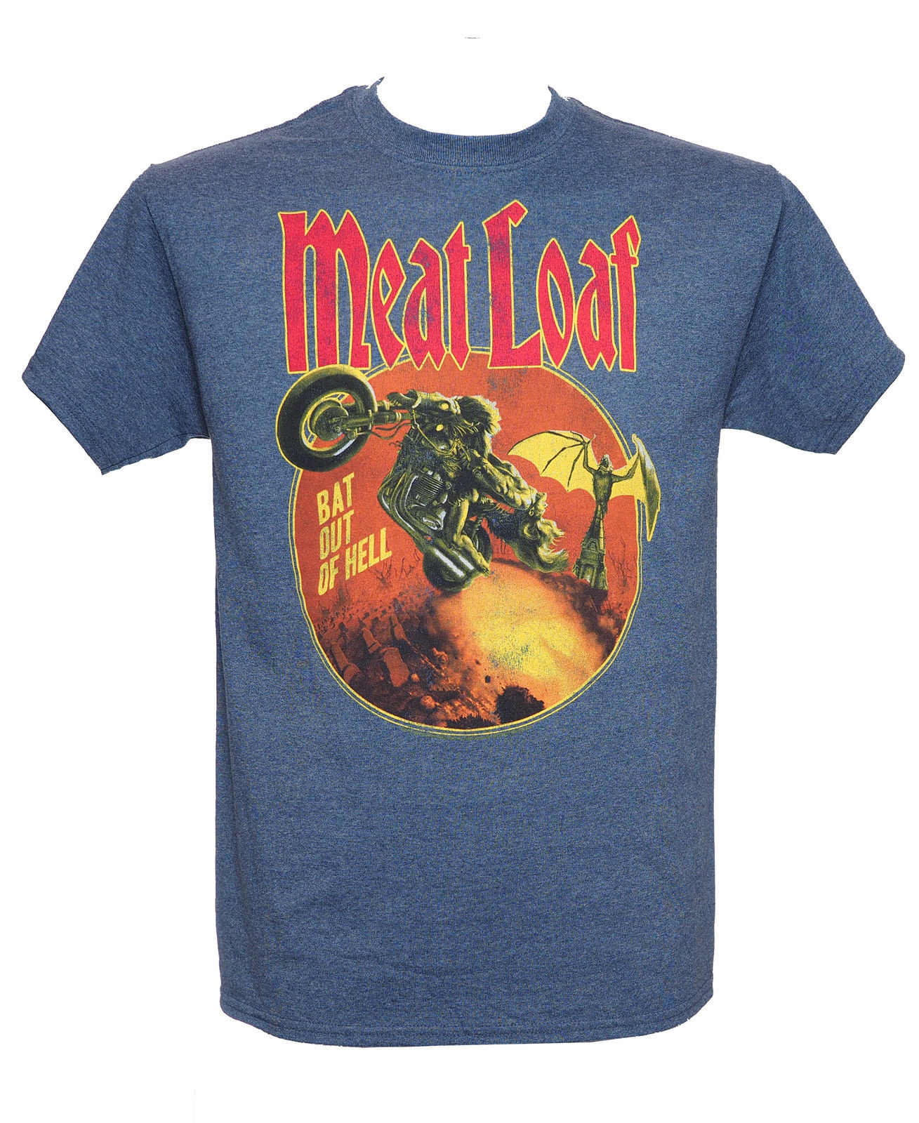 MEAT LOAF - BAT OUT OF HELL - Official T-shirt - Metal - New S M L XLNew Arrival Male Tees Casual Boy T-Shirts Tops Discounts image