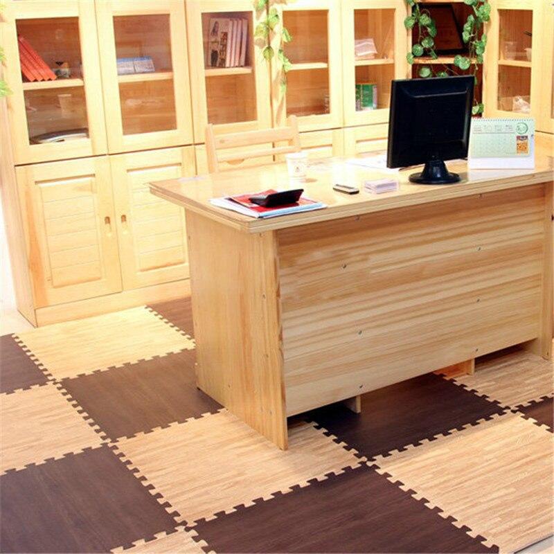 grano de madera suelo suave espuma eva puzzle gateando pad de bloqueo piso dormitorio alfombra estera