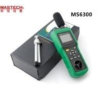 MASTECH MS6300 цифровой многофункциональный Защита окружающей среды метр Температура влажность Звук потока воздуха тестер люминометр Анемометр