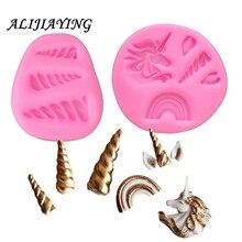 1Pcs Unicorn Animalsl Silicone Mold Fondant