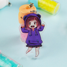 Fashion Lovely Cartoon Anime New Academia My Hero Academi Keychain Acrylic Key Ring Charms Gift